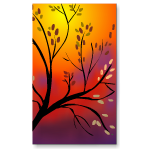 Fall Tree Diptych Painting Right