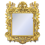 Vigorously Carved Florentine Mirror