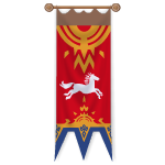 Royal Horse Red Banner