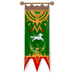 Royal Horse Green Banner
