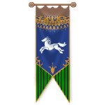 Royal Horse Blue and Green Banner