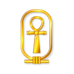 Golden Ankh Decal