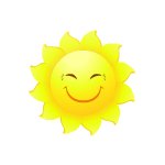 Cheerful Sun Decal
