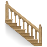 Beige Marble Stairs Side