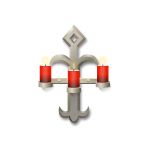 Iron Triple-Flame Candelabra