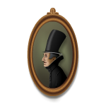 Man in Top Hat Portrait