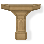 Beige Marble Balcony Base