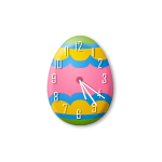 Easter Egg Clock