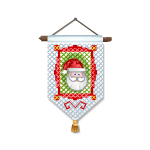 Cross Stitch Santa 1