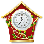 Old Style Christmas Clock