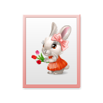 Easter Girl Bunny Wall Art