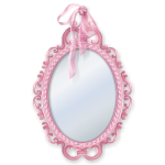 Pastel Pink Carved Mirror