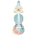 Pastel Blue Violin Decor