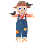 Scarecrow Kid Decal