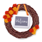 Dried Vine Welcome Wreath