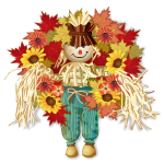 Black Eyed Susan with Scarecrow Wreath