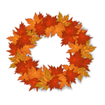Vibrant Orange Leaf Wreath