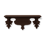 Victorian Dark Brown Shelf 2