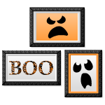 Halloween Trio Boo Wall Art