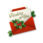 Thinking of You Red Christmas Envelope