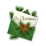 On Christmas Green Envelope
