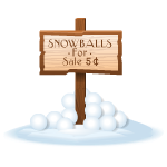 Snowballs For Sale Sign