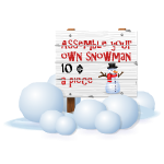 Unassembled Snowman Sale