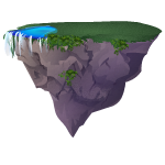 Floating Island with Lake