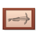 Habi - Wooden Frame with Catfish Picture