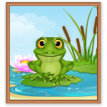 April Special Frog Wall Art