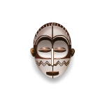 White Tiki Ceremonial Mask