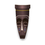 Brown Tiki Decorative Mask
