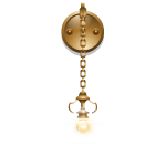 Glass Wall Lamp with Chain