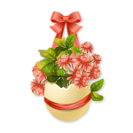 Easter Flowers in Eggshell 3