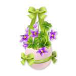 Easter Flowers in Eggshell 2