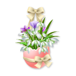 Easter Flowers in Eggshell 1