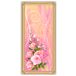 Pastel Pink Wall Art with Flowers