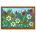 Floral Mosaic Picture