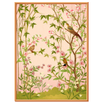 Pink Wall Panel with Flowers