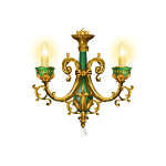 French Aristocrat Sconce with Green Marble