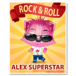 Rock and Roll Alex Poster