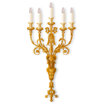 Bronze Rococo Triple Wall Candle Sconce