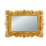 Large Gold Rectangle Rococo Mirror
