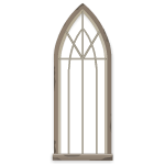 Large Medieval Gray Stone Arch Window