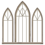 Medieval Gray Stone Arch Trinity Window