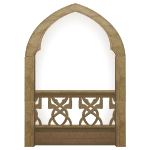 Thin Castle Balcony Arch