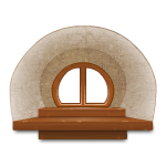 Round Recessed Wooden Window