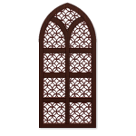Brown Wooden Gothic Window