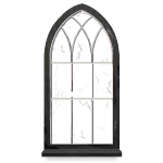 Gothic Window with Broken Panes