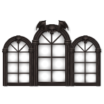 Arched Gothic Mansion Window